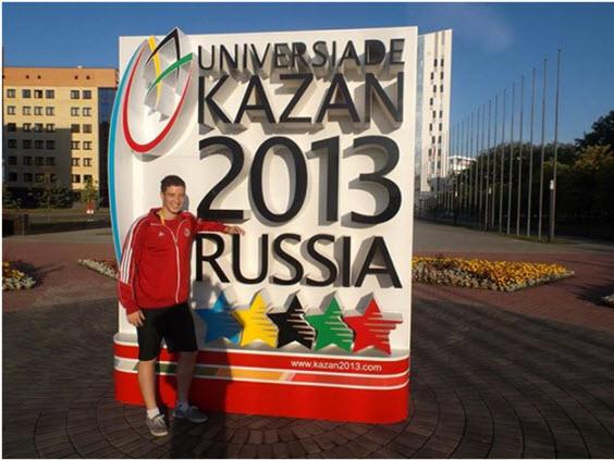 Dusko at 27th Summer Universiade in Kazan